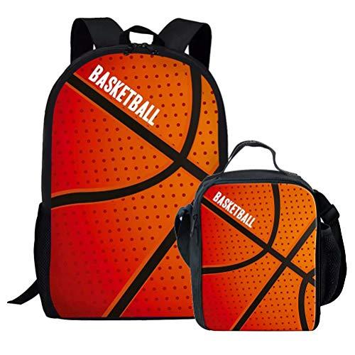 Chaqlin - Juego de mochilas escolares para niños, Poliéster, Baloncesto-2 (2 piezas/juego)., Talla única
