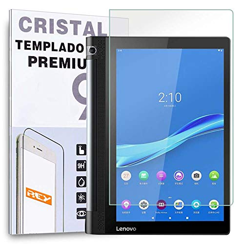 REY Protector de Pantalla para Lenovo Yoga Tab 3 Plus 10.1', Cristal Vidrio Templado Premium