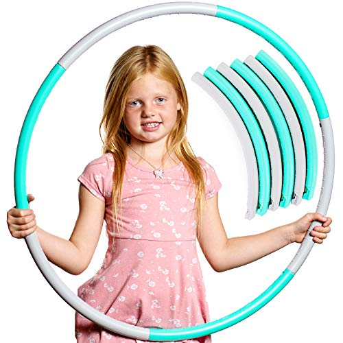 Hula Hoop for Kids: Best Hoola Hoops for Girls amp Boys All Ages Small Weighted Exercise Ring for Easy Hooping Fun Outdoor Toy Detachable amp Adjustable for Children Aged 4 5 6 7 8 9 10 11 12 amp Adults