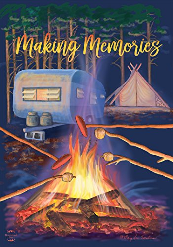 Briarwood Lane Making Memories Fall Garden Flag Campfire Marshmallows 12.5x18
