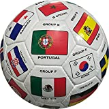 BESTSOCCERBUYS.COM Soccer World Cup 2018 Russia Qualifiers Country Flags Soccer Jersey Soccer Ball Size 5 Memorabilia Gift for Soccer Fans (Soccer Ball Size 5)