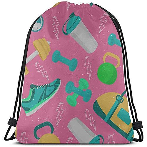 Schöne Sportschuhe, Casual, Müllbeutel aus Polyester, Kordelzug für Mädchen, Kosmetikbeutel mit Kordelzug, für Reisen im Fitnessstudio
