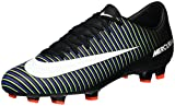 Nike Men's Mercurial Victory VI FG Soccer Cleat Black/White/Electric Green Size 12 M US