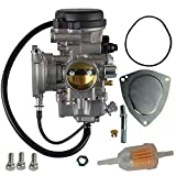 FLYPIG New Carb Carburetor w/Intake Manifold For Yamaha YFM350 YFM 400 YFM400F Grizzly 350 400 450 ATV Big Bear 400 Kodiak 400 Wolverine 350 450 Replacement 5ND-14101-00-00 5ND-E4101-01-00