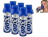 PACK de 6 latas de oxígeno puro 6 litros - Booster su capital salud - marca GOX