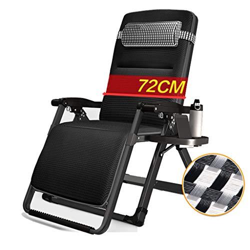 Chaise pliante Patio inclinable avec Coussins pour Personnes Lourdes zéro gravité Gravité extérieure Plage Camping Portable Chaise, 300 kg