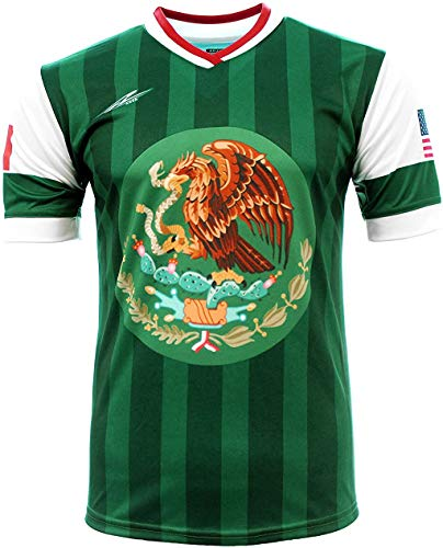 Kid's Jersey Mexico and USA Arza Design 100% Polyester (12) Green