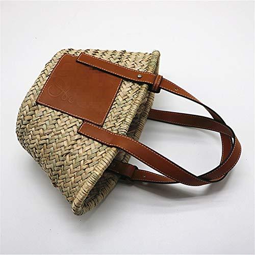 PCBDFQ damestas, hoge capaciteit, straw, woven handtassen, handgemaakt, strandtassen, nieuwe Lady Travel