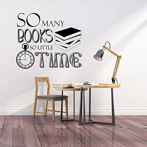Decoración de librería tantos libros tan poco tiempo pegatinas de pared decoración de pared de plantas naturales