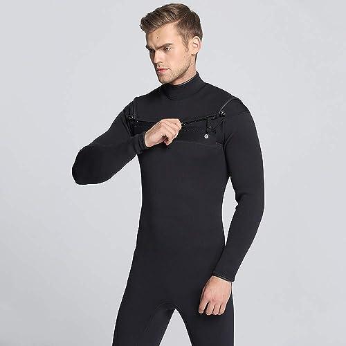 TSSM 3 MM Combinaison Hommes Surf Plongée Voilier étanche Siamois Néoprène Surf Costume Gardez Au Chaud Plongée en Plein Air en Plein Air sous Costume,M