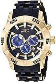 Invicta Men's Sea Spider Stainless Steel Quartz Watch with Polyurethane Strap, Black, 26 (Model: 26538)