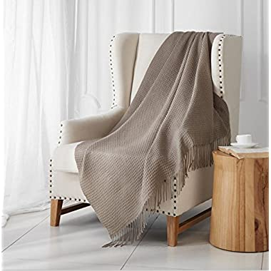 """MERRYLIFE Decorative Knitted Throw Blanket (Large) Sofa, Couch, or Bedroom Décor 