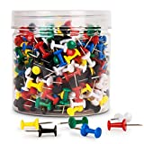BetyBedy Push Pins, 400PCS Multi-Color Map Thumb Tacks, Plastic Marking Pins with Sharp Point for Bulletin Board, Fabric Marking, Crafts and Office Organization
