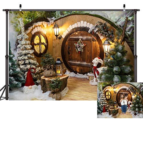 WQYRLJ 3D Vinyl Kerstmis Fotografie Backdrops, Kerstmis Huis Open haard Gift Sneeuw View Photo Banner voor Familie Party Kids Decoratie Achtergrond Studio Prop