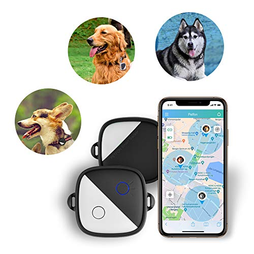 Petfon GPS-Tracker für Hunde und Haustiere, keine monatlichen Gebühren, Echtzeit-Tracking-Gerät, Anti-Verlust-Monitor, Smart Finder