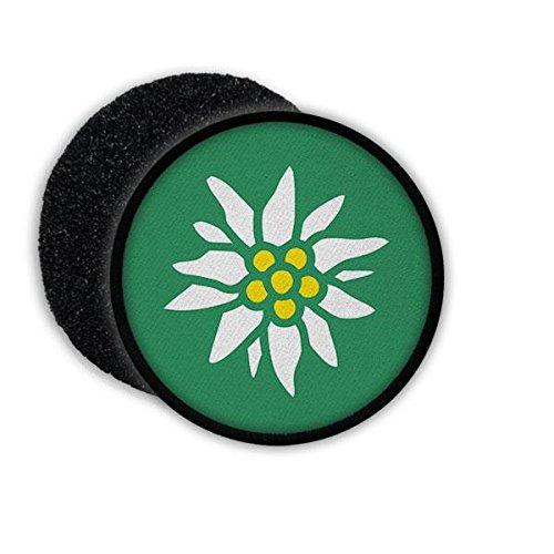Copytec Patch Edelweiß Blume Gebirgsjäger GebJg Gams Wappen Abzeichen Emblem Aufnäher Rund#22099