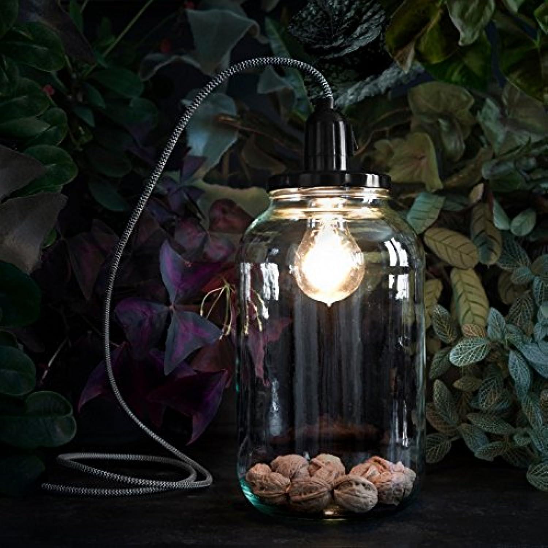 Lampe Vorratsglas 4.0 4.0 4.0 – Lampe Handlampe Kabel schwarz und weiß H27 cm – Lampe Stellen Pop Corn G80590 durch B072M2QMDJ | Erste Gruppe von Kunden  aae81d
