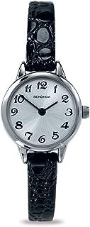 Sekonda montre à quartz pour femme avec affichage analogique et bracelet en cuir noir