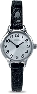 Sekonda Women's Quartz Watch with Analogue Display and Black Leather Strap