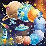 Leuchtsterne Selbstklebend Wandtattoo Planeten Kinderzimmer Jungen, Wandaufkleber Sternenhimmel Aufkleber für Babyzimmer Deko, Leuchtsticker Weltall Wandsticker Deko, Wohnzimmer Schlafzimmer Wanddeko