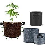 Bolsas de cultivo portátiles para plantas de jardín, plantas de crecimiento, macetas de tela ecológicas para invernadero, agricultura, herramientas vegetales (color: 15 galones B gris)
