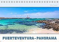 FUERTEVENTURA-PANORAMA (Tischkalender 2022 DIN A5 quer): Endlose Straende, schroffe Berghaenge, Urlaub pur (Monatskalender, 14 Seiten )