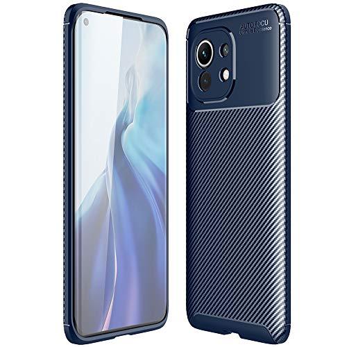 ALAMO Funda Ultra de Silicona para el Xiaomi MI 11, Carcasa Fibra de Antigolpes Bumper - Azul