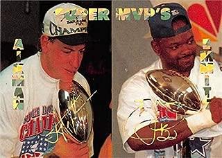 Emmitt Smith & Troy Aikman football card (Dallas Cowboys, Super MVP's) 1994 Stadium Sports Super Bowl Heroes #90
