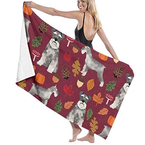 XCNGG Schnauzer Dog and Vintage Florals The Bath Towel Five Star Hotel Quality Toalla de baño Premium Collection Suave, Felpa y Altamente Absorbente (1 Toalla de baño de 31 x 59 Pulgadas)