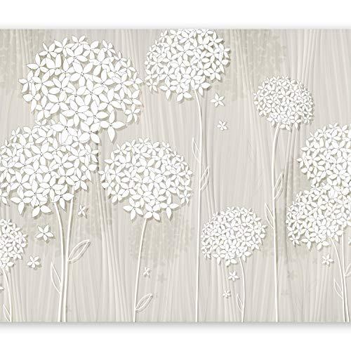 murando Fototapete Blumen 350x256 cm Vlies Tapeten Wandtapete XXL Moderne Wanddeko Design Wand Dekoration Wohnzimmer Schlafzimmer Büro Flur Blume beige b-C-0008-a-b