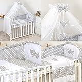 Lujo 11 Piezas juego de ropa de cama para cuna de bebé cama edredón, dosel +...