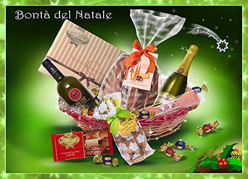 Idea Regalo di Natale - Cesto di Natale Artigianale - Cesto Natalizio - Cesti Natalizi - Bontà del Natale con Panettone o Pandoro TREMARIE