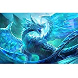 Kit de pintura de diamante 5D, diseño de dragón de hielo de juego de tronos WOWDECOR completo...