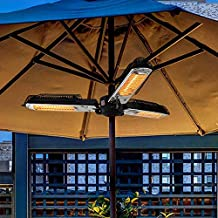 WANGZI Electric Patio Parasol Umbrella Heater, Folding Outdoor Electric Infrared Space Heater with 3 Heating Panels for Pergola Or Gazabo for Outside Garden Terrace Home Essential