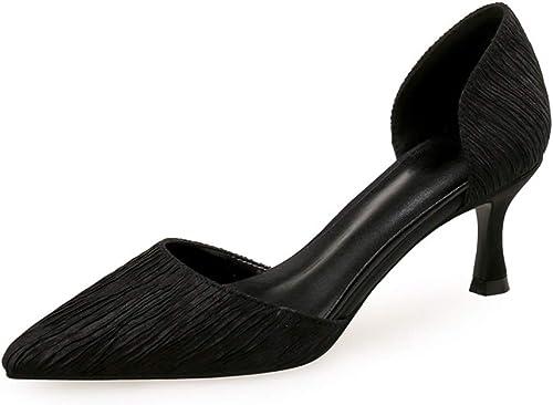 CHEXIAO Sandales à Talons Pointues pour Femmes, Style Simple Simple Et à Talons Hauts (Couleur   Noir, Taille   34)  économiser jusqu'à 80%