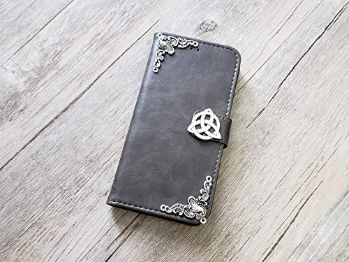 Trinity Celtic Knot Handmade Phone Wallet Stand Case Cover for iPhone 8 7 6 6s Plus X Xr Xs Max Samsung Galaxy S7 Edge S8 S9 S10 Plus Note 8 9 Mn0955