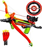 Toysery Real Crossbow Archery Set - Comes with Suction Cup Arrows and Target Material - Ultimate Fun for Kids - Absolutely Safe for Kids - Great for Indoor and Outdoor Game