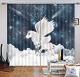 AJ WALLPAPER Cortinas 3D Pegasus 56 con diseño de Cuadros, Cortinas de Tela para Ventana | Cortina de Fotos Grande 3D, Papel Pintado MXY UK Maze, 320cmx270cm(WxH)【126''x 106''】