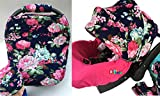 9pc Ultimate Set of Infant Car Seat Cover Canopy Headrest Blanket Hat Nursing Scarf, 25JE05