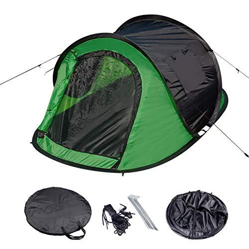 Laneetal Campingzelt Wurfzelt 2-3 Personen Zelt Sekundenzelt Camping Festival Outdoor Wasserdichtes Zelt 3 Jahreszeiten 145x240x100cm Grün