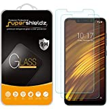 (2 Pack) Supershieldz for Xiaomi Pocophone F1 Tempered Glass Screen Protector, Anti Scratch, Bubble Free