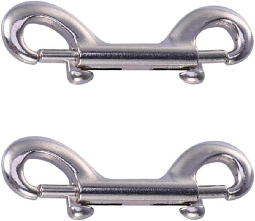 TEHAUX 2pcs Double Ended Bolt Ranking TOP4 Snaps New color D Heavy Stainless Hook Steel