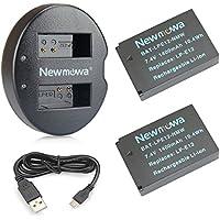 Newmowa LP-E12 Batería de Repuesto (2-Pack) y Kit de Cargador Doble para Canon LP-E12 Canon EOS M M2 M10 M50 M100 M200 EOS 100D EOS Rebel SL1 EOS Kiss X7 PowerShot SX70 HS