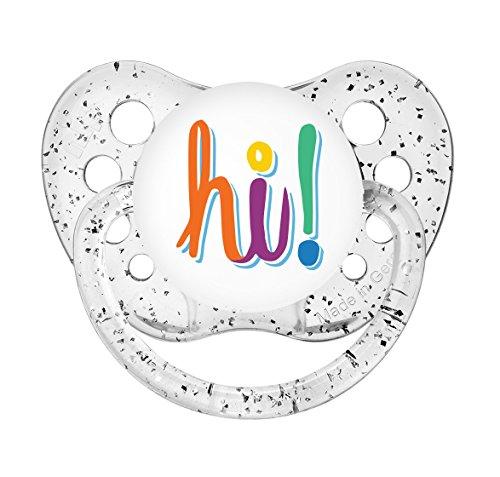 Ulubulu Expressions Pacifier Hi Glitter Clear (0-6 Months)