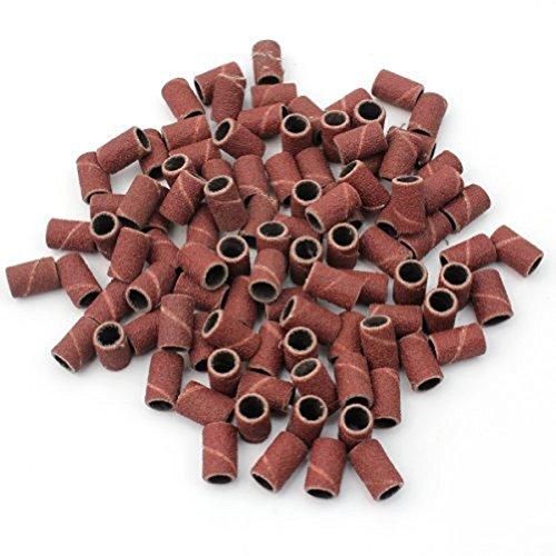 WINOMO Monté cylindrique manchons abrasifs chefs meulage bandes de ponçage pour outils de manucure Nail Drill