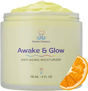 Anti-Aging Face Moisturizer with Vitamin C, Hyaluronic Acid, Cocoa Butter, Avocado Oil, Jojoba Oil, Aloe Vera – Natural & Organic Wrinkle Cream and Dark Spot Corrector - Made in USA