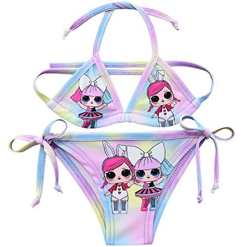 Einhorn-Bikini-Set für Mädchen, zweiteilig, bunt Gr. 8-9 Jahre, Stil 15