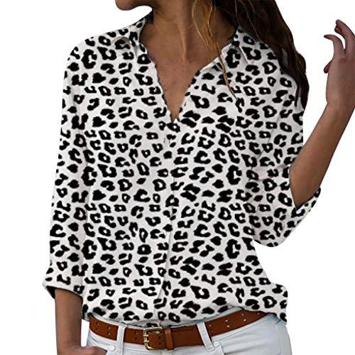 Dtuta Frau Blusen Elegante Oberteile V-Ausschnitt Tops Casual Hemd Langarm Shirt, Sommer Bluse Ärmellose Chiffon Tank Top V-Ausschnitt Shirt Elegant Weste Hemdbluse Loose fit T Shirt mit Knopf