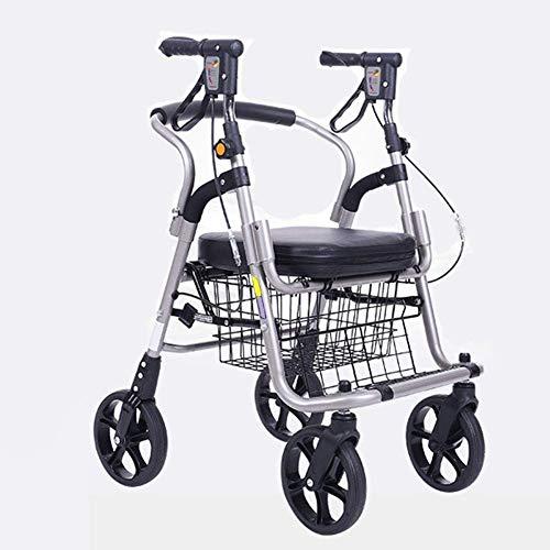 Dljyy Verstelbare loopmachine, driving Medical, Advanced winkelwagen, rolstoel, push-winkelwagen, rolstoel, wandelen, scooter, vierwielen-vouwing, lichtgewicht DFHS
