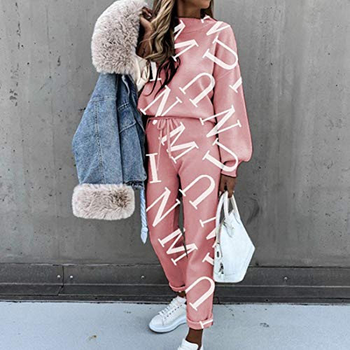 MoneRffi Women Tracksuit Sets 2 Piece Sports Suit Tie Dye Casual Long Sleeve Tops + Trouser with Pocket Leisure Loungewear Sweatshirt Sportswear Suit For Jogging Sport Fitness Set(type 2,XXL)